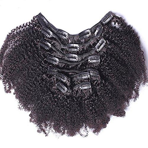 Ugeat 12 zoll 7pcs African Kinky Curly Clip in Extensions Tressen 1b# Naturliche Schwarz 120g Komplette Kopf Brasilianisch Remy Echthaar Tressen