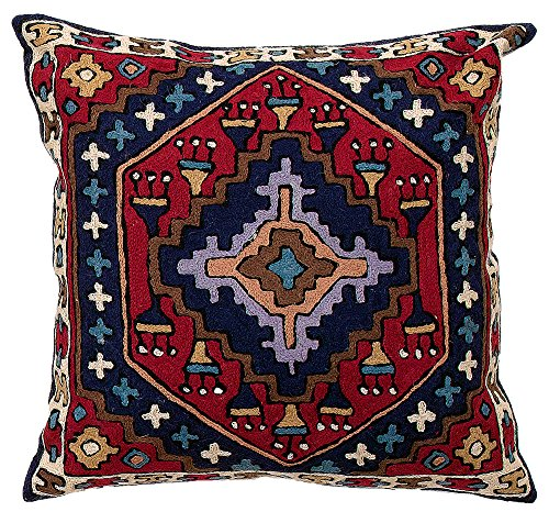 Zaida 1 Stück, 60 x 60 cm, aus Baumwolle, Wolle, Kelim