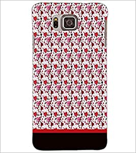 PrintDhaba Heart Pattern D-1890 Back Case Cover for SAMSUNG GALAXY ALPHA (Multi-Coloured)