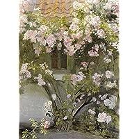 Impresión artística fina – Rosas de escalada por Bentley Global Arts Group, papel, multicolor, 13 x 19