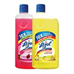Lizol Disinfectant Surface & Floor Cleaner Combo [Citrus - 975 ml + Floral - 975 ml]