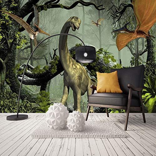 VVNASD 3D Aufkleber Tapete Dekorationen Wandbilder Wand Stereo Dinosaurier Theme Primitive Wohnzimmer Schlafzimmer Hintergrund Dekor Kunst Kinder Küche (W) 300X(H) 210Cm