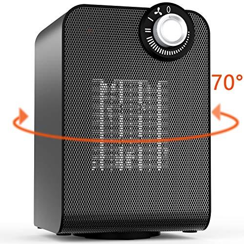 Bimonk 1800w Heizlüfter, Automatisch drehende, elektrische Raumheizung mit Thermostat für Heim und Büro, geräuscharmer Betrieb, kompakte und leistungsstarke Raumheizung mit Energieeinsparung