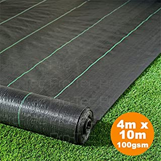 Pro-Tec 4m x 10m Heavy Duty 100g Weed Control Membrane Ground Cover Landscape Fabric