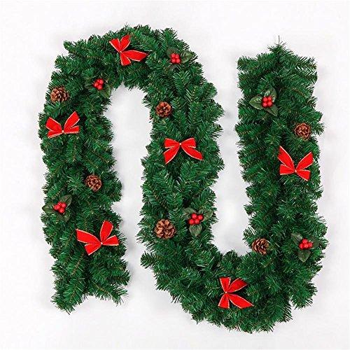 XIXI 2,7 M Christmas Rattan 270Cm pino Conos de pino Decoración de Navidad Puerta Vine Decoración de la puerta