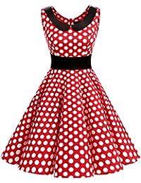 Dresstells Version 9.0 Vintage 1950's robe de soirée cocktail rétro style années 50 col rond sans manches