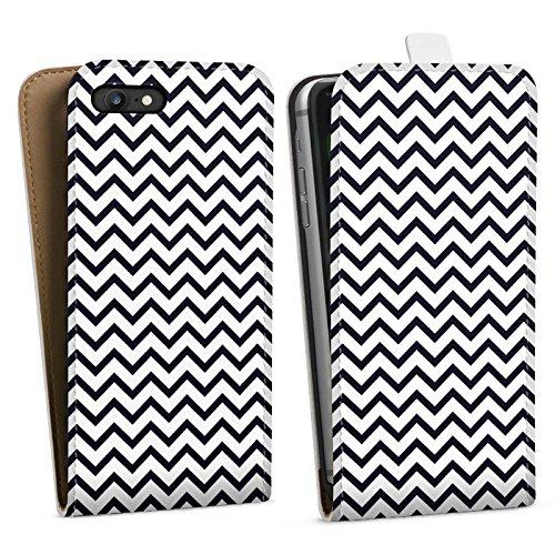 Apple iPhone X Silikon Hülle Case Schutzhülle Zickzack Muster Streifen Downflip Tasche weiß