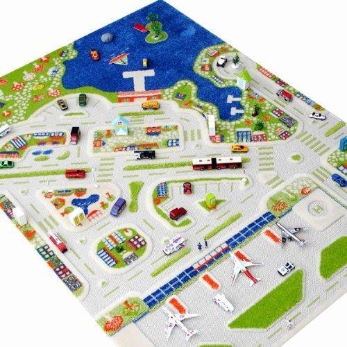 Little Helper 121MD034134180 IVI Hypoallergener Dicker 3D-Kinderspielteppich, 134 x 180 cm, mehrfarbig