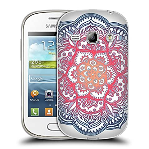 Official Micklyn Le Feuvre Radiant Medallion Doodle Mandala 3 Soft Gel Case for Samsung Galaxy Fame S6810