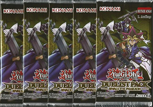 Yu-Gi-Oh! 5 Booster Packungen - Rivals of the Pharaoh - Duelist Pack - Deutsche Ausgabe
