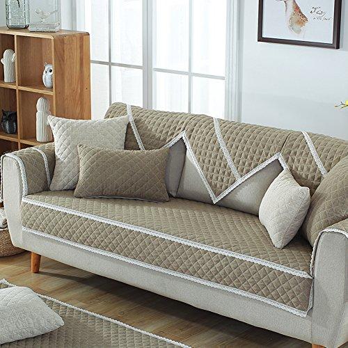 Tt&cc fodera per divano anti-slittamento,quattro stagioni universale trapuntato copridivano tinta unita grossolana lino moderno minimalista in pelle divano asciugamano-b 90x120cm(35x47inch)