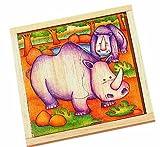 Voila Holz-Safaripuzzle Nashorn