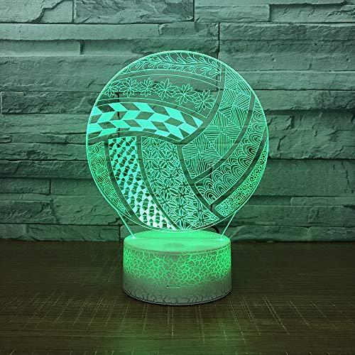 Yoppg Illuminazione 3D Lampade Luce Notturna LED 7 Colori Controllo Tattile USB O Batteria Comodino Bambini Cameretta League of Legends Telecomando