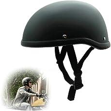 heinmo Motorrad Retro Helm Motocross Hälfte Open Face Helm für Harley Cruiser