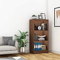 "A10SHOP Alpha Bookshelf & Storage Cabinet with 4 Shelf, 48"" high x 24"" Wide *Installation Included* (Acacia Walnut)"