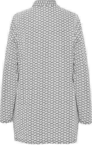 WEARALL Femmes Grande Taille Ouvert Longue Manche Cardigan Ouvert Haut Jacquard Imprimer Étendue - Hauts - Femmes - Tailles 42-56 Gris Clair