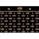 YongFoto 2,2x1,5m Vinyle Toile de Fond Toile de Fond VIP Événement Tapis Rouge Étoiles de la Couronne Photo Noir Fond de Stud