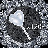 Tomnk 120 Plastiche Pipette a forma di cuore di Trasferimento(4ml), adatte a fare il cioccolato, la frittella, la fragola, la torta