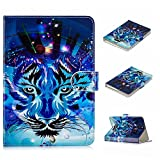 JIan Ying 10.1 Universel Tablette Housse- Cuir Support Folio Cover Magic Leather Protector pour Accueillir tous les 10.1&10 Tab Coque, Asus, Acer, Samsung, Huawei, Lenovo Loup