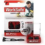 Alpine WorkSafe Tappi Auricolari - Protezione Per L'Udito Per Il Fai-Da-Te ed il Lavoro - Tappi da lavoro - Corda di sicurezz