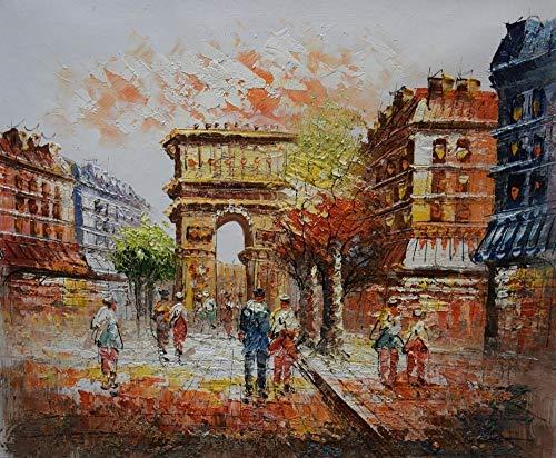 YOHAWOD Dipinto a Mano Paesaggio della Tela di Canapa Pittura Stree Spessa Pittura A Olio Pitture Murali per Soggiorno