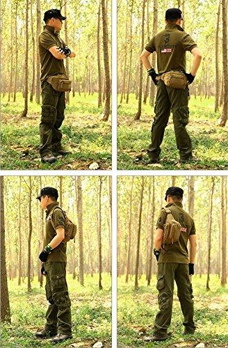 ueasy Tactical Sport Reißverschluss Wandern Reiten Taille Tasche Running Bum Taille Geld Gürtel Tasche Moble Telefon Pack schwarz - schwarz