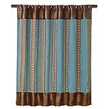 HiEnd Akzente Unisex ruidoso blau gestreift Dusche Vorhang–ws4066sc, Polyester, multi, Einheitsgröße