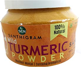 Santhigram Natural Wild Turmeric Powder-100 GMS (Kasthuri Manjal/Jangli Haldi/Curcuma Aromatica)