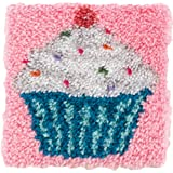 "Wonderart Latch Hook Kit 12"""" X12-Cupcake"