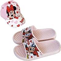 Ciabatte Minnie Mouse Disney Flip-Flop per spiaggia o piscina + Cappello Disney Minnie Mouse per bambine