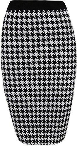 Generic - Jupe - Crayon - Femme Multicolore Bigarré Taille Unique Noir