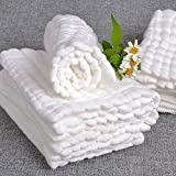 Best Baby Washcloths & Towels - ELECTROPRIME Soft Cotton Baby Infant Washcloth Bath Towel Review