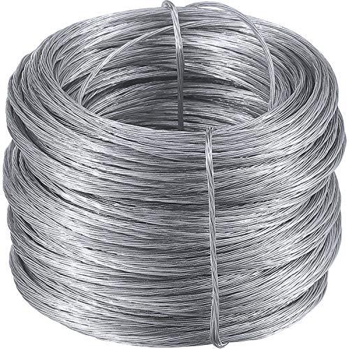 Foto Rahmen Bild Hängender Draht, Edelstahl Spiegel Hängendes Seil 200 Fuß, Stützt bis 30 lbs (100 Fuß)