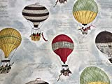 Hot Air Ballon print Stoff Vorhang Polster Baumwolle