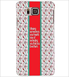 PrintDhaba Quote D-3225 Back Case Cover for SAMSUNG GALAXY ALPHA (Multi-Coloured)