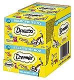 Dreamies Klassiker Katzensnack Selection Box mit Huhn, Käse, Rind und Lachs, 4 Packungen (4 x 4 x 30g)