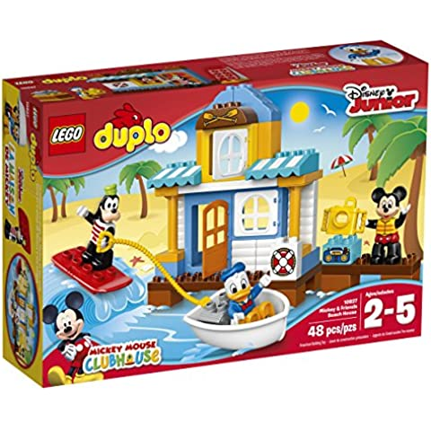 LEGO DUPLO Disney 10827 Mickey & Friends Beach House Building Kit (48 Piece) by LEGO