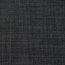 Tela de tapicería en gris carbón lino suave liso Home Essential de diseño para cortinas, cojines, sofás, persianas, vendida al metro