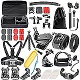 Neewer 55-en-1 Action Caméra Kit d'Accessoires pour GoPro Hero 4/5 Session, Hero 1/2/3/3 +/4/5, SJ4000/5000, Xiaomi Yi, Nikon et Sony Sport DV Natation Aviron Escalade Vélo Camping et D'autres