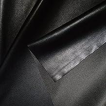 designers-factory Tissu simili cuir noir, fin et stretch - Tissu faux cuir - tissu skai (par multiple de 20cm)