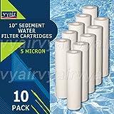 10x Vyair 25,4cm PP, 5micron melt Blown particelle/Sediment/cartuccia filtro acqua ad osmosi inversa a rimuovere particelle sabbia, limo, sporco e ruggine