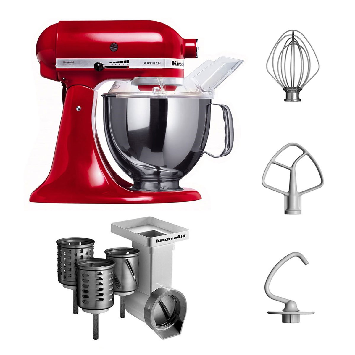 Amazon.de: KitchenAid 5KSM150PSECA4 Küchenmaschine mit kippbarem ...