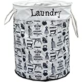 FunkyBuys® Round Fabric Laundry Bag LIMITED EDITION, Wash 'N' Dry