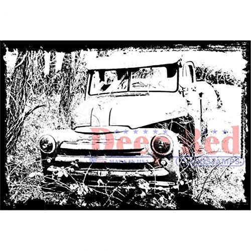 Preisvergleich Produktbild Deep Red Cling Stamp Abandoned Truck