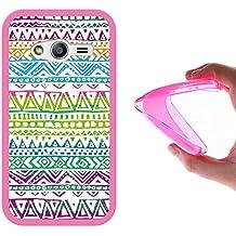 Funda Samsung Galaxy Trend 2 Lite G318H, WoowCase [ Samsung Galaxy Trend 2 Lite G318H ] Funda Silicona Gel Flexible Dibujo a Mano Tribal, Carcasa Case TPU Silicona - Rosa