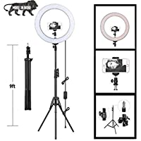 """PYXBE 10"""" Inches Big LED Ring Light for Photo and Video with 9 Feet Tripod Stand Compatible with Camera and Smartphones…"""