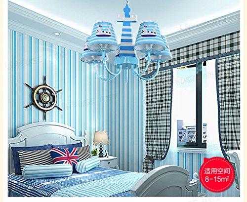 Zimmer Kronleuchter im europ?ischen Mittelmeer kreative Cartoon Jungen und M?dchen Schlafzimmerlampe Beleuchtung Studie neue Kinder - 4