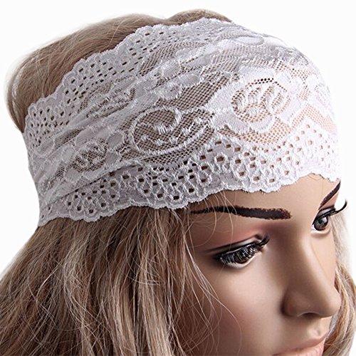 bluelans® Élégant Femmes Dentelle Fleur Bandeau élastique couvre-chefs Yoga Accessoire Cheveux Fille Cadeau