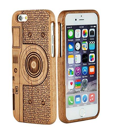 SunSmart Einzigartigen, handgefertigten Original Natural Wood Holzfest Bambus Case/Hülle/Tasche für iPhone 6 Plus 5.5'' (schwarznuss) sapele C4