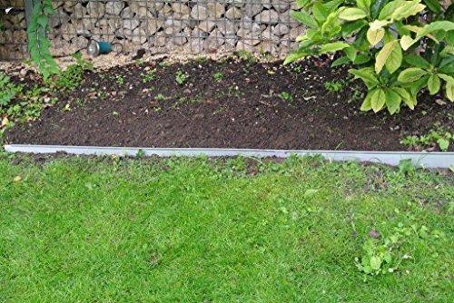 Bellissa galvanisé 12,2 x 118 cm Bordure de limitation de pelouse de jardin monde Verrou Berger